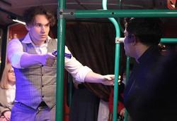 В городе появился первый в стране театральный троллейбус