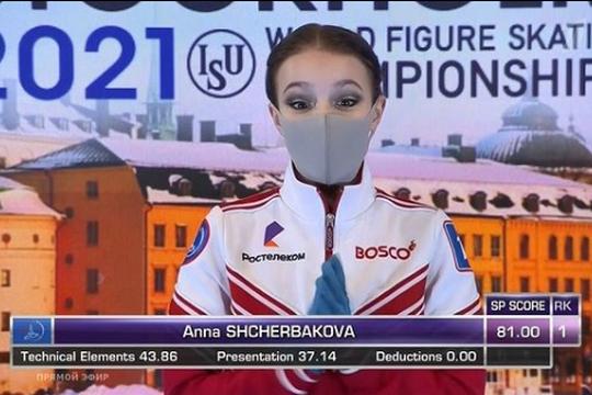 Фигуристка Щербакова лидирует после короткой программы на Чемпионате мира, Трусова лишь 12-я
