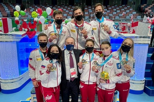 Российские фигуристы впервые в истории выиграли командный чемпионат мира