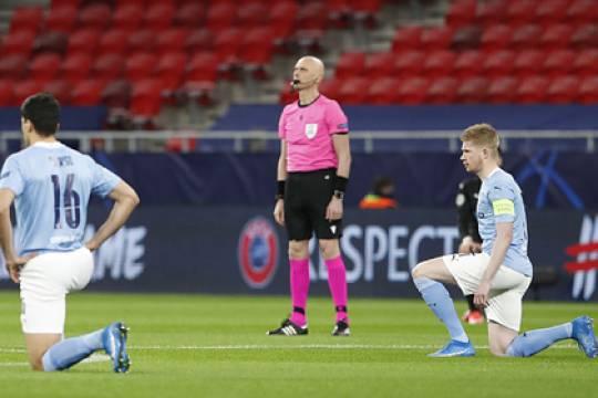 УЕФА не накажет российского арбитра Карасёва и его бригаду за отказ преклонить колено на матче Лиги чемпионов