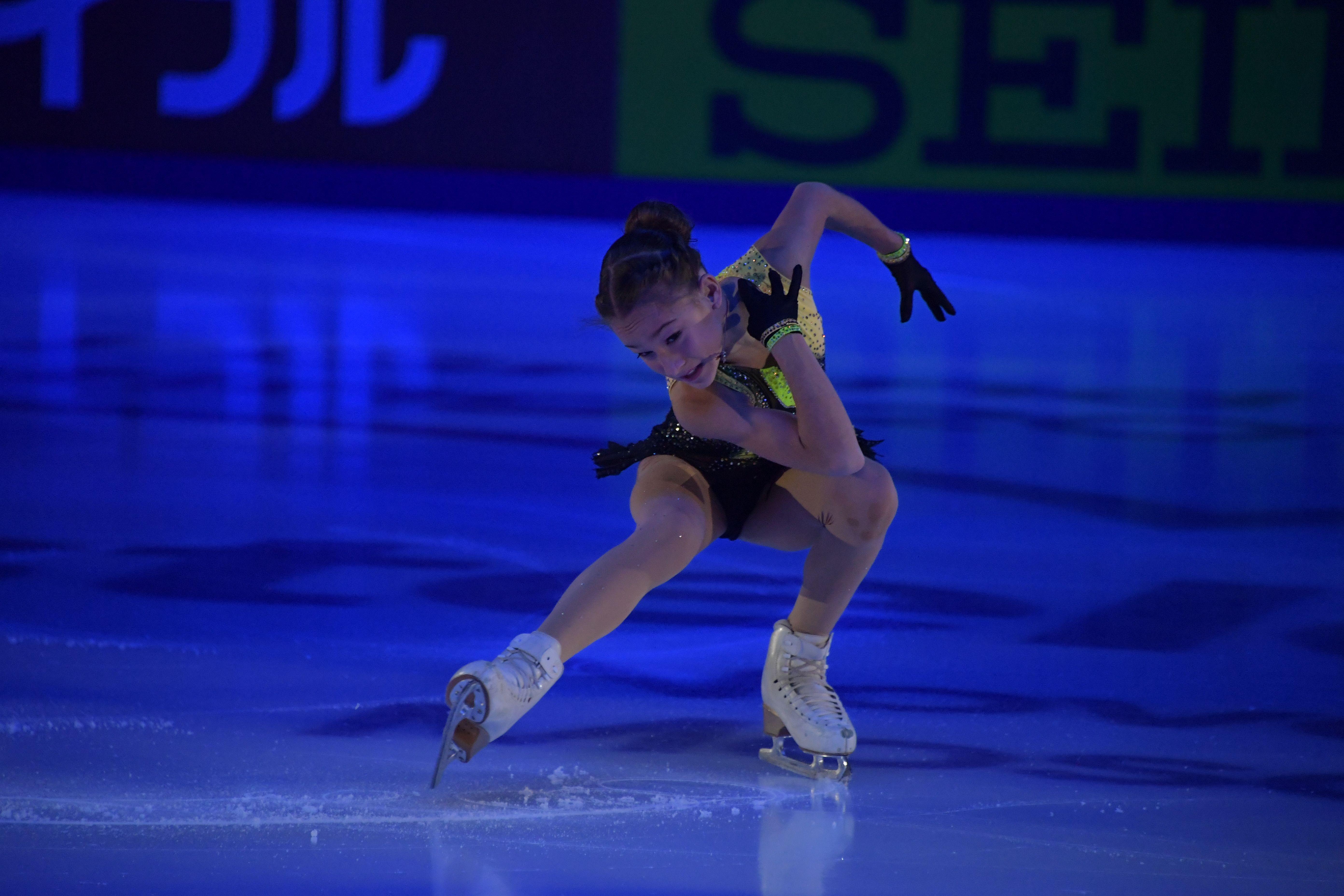 Золотой прокат Акатьевой с четверными и тройным акселем. ВИДЕО