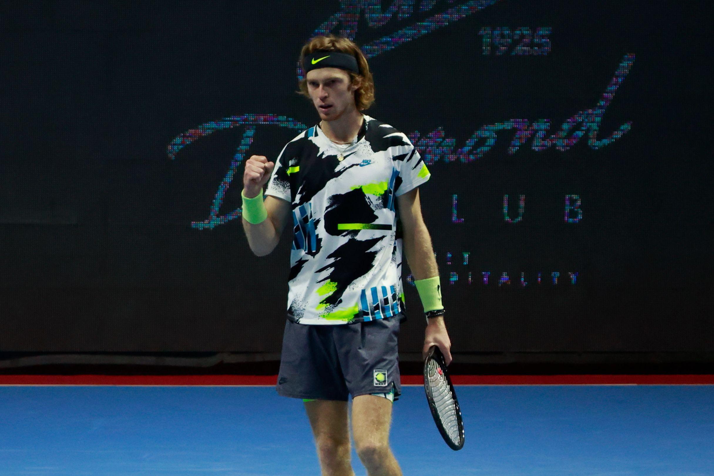Теннис, Итоговый турнир АТР, Рублёв - Тим, прямая текстовая онлайн трансляция