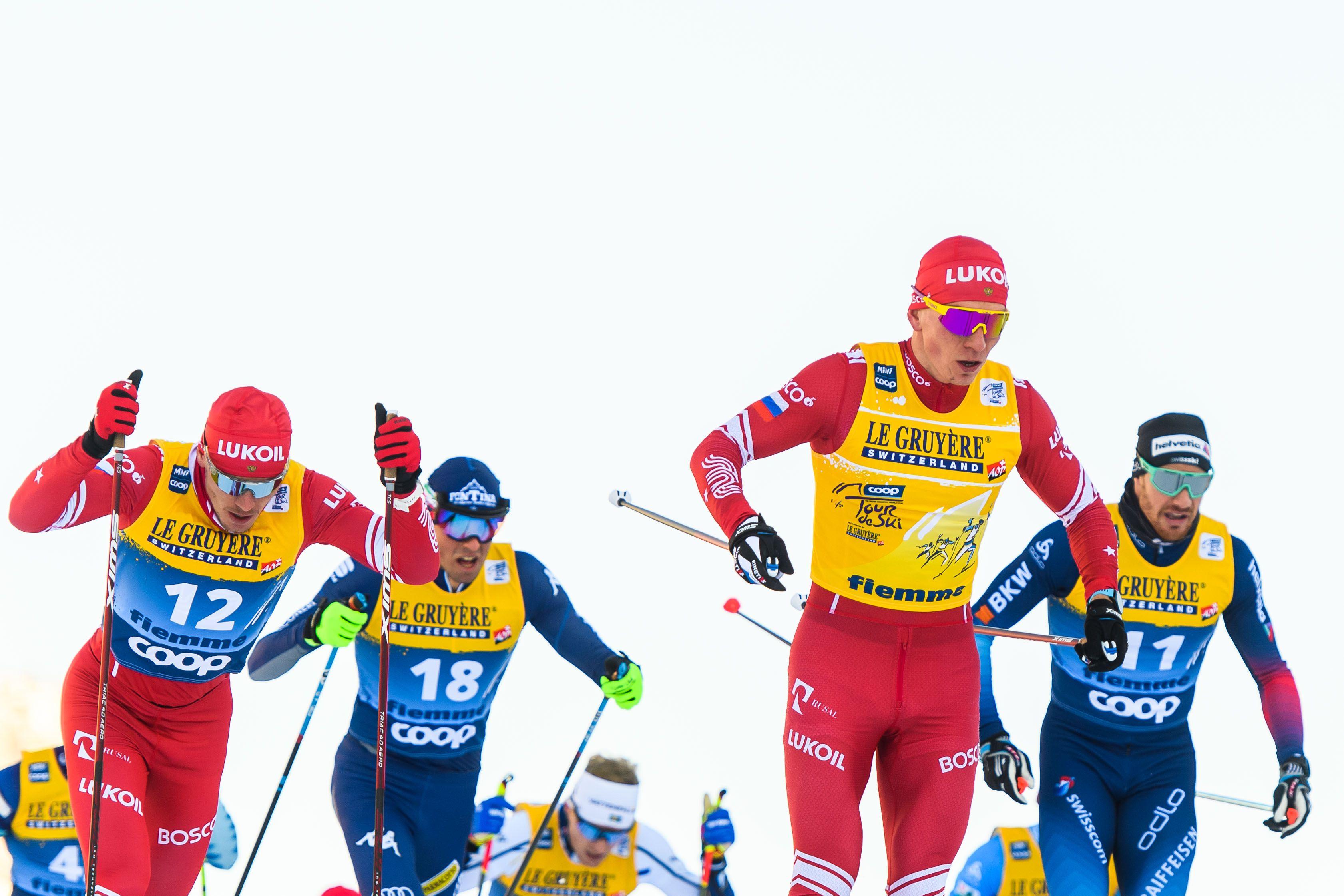 'А эти русские — чистые?'. СМИ в Швейцарии — о доминировании российских лыжников на 'Тур де Ски'