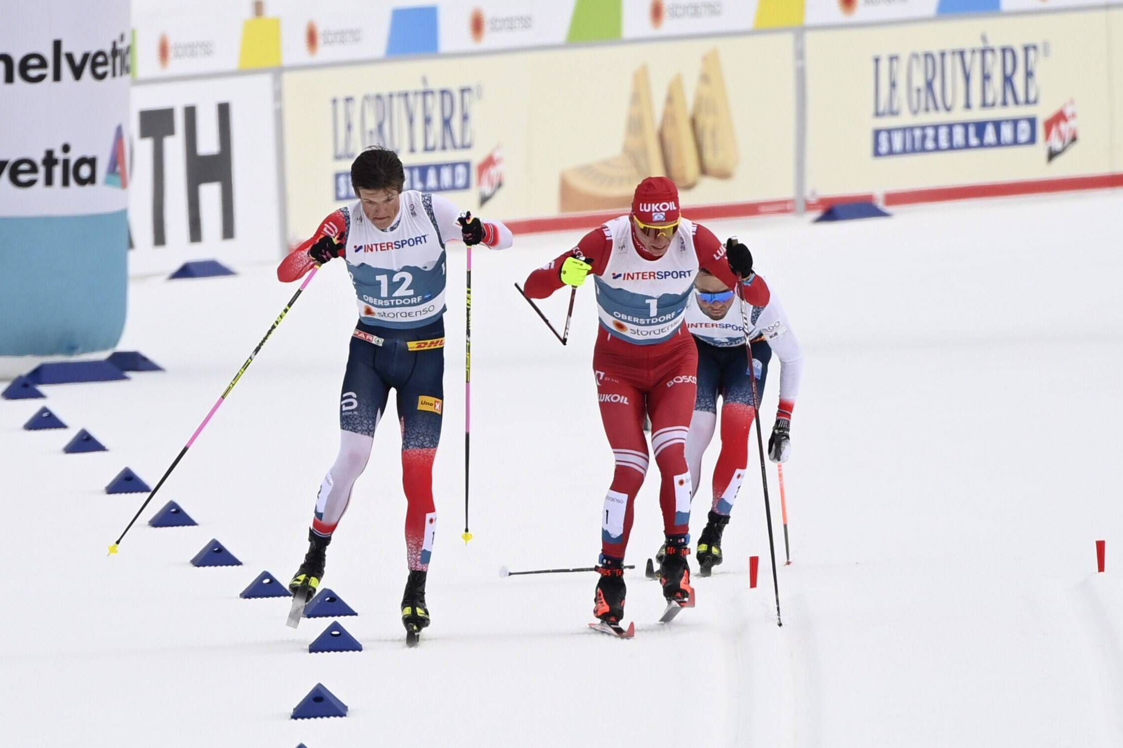 Видео скандального инцидента между Клебо и Большуновым на финише лыжного марафона