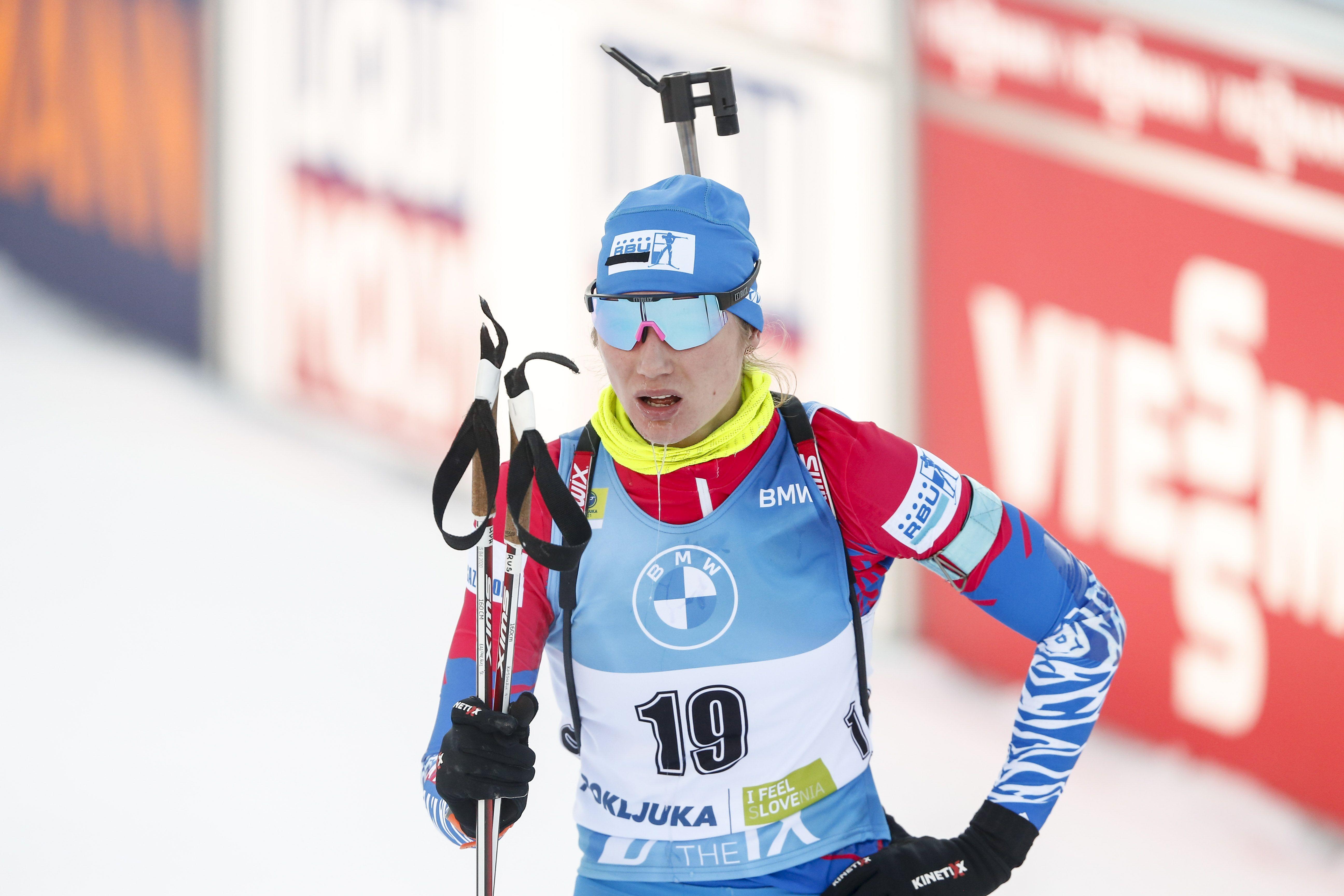 Российская биатлонистка расплакалась в прямом эфире. ФОТО