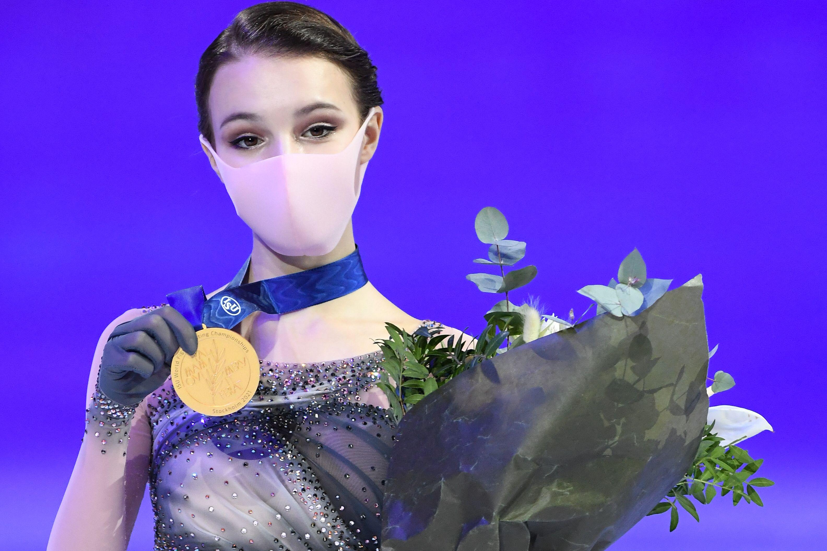 Щербакова опубликовала эмоциональное фото после победы на чемпионате мира