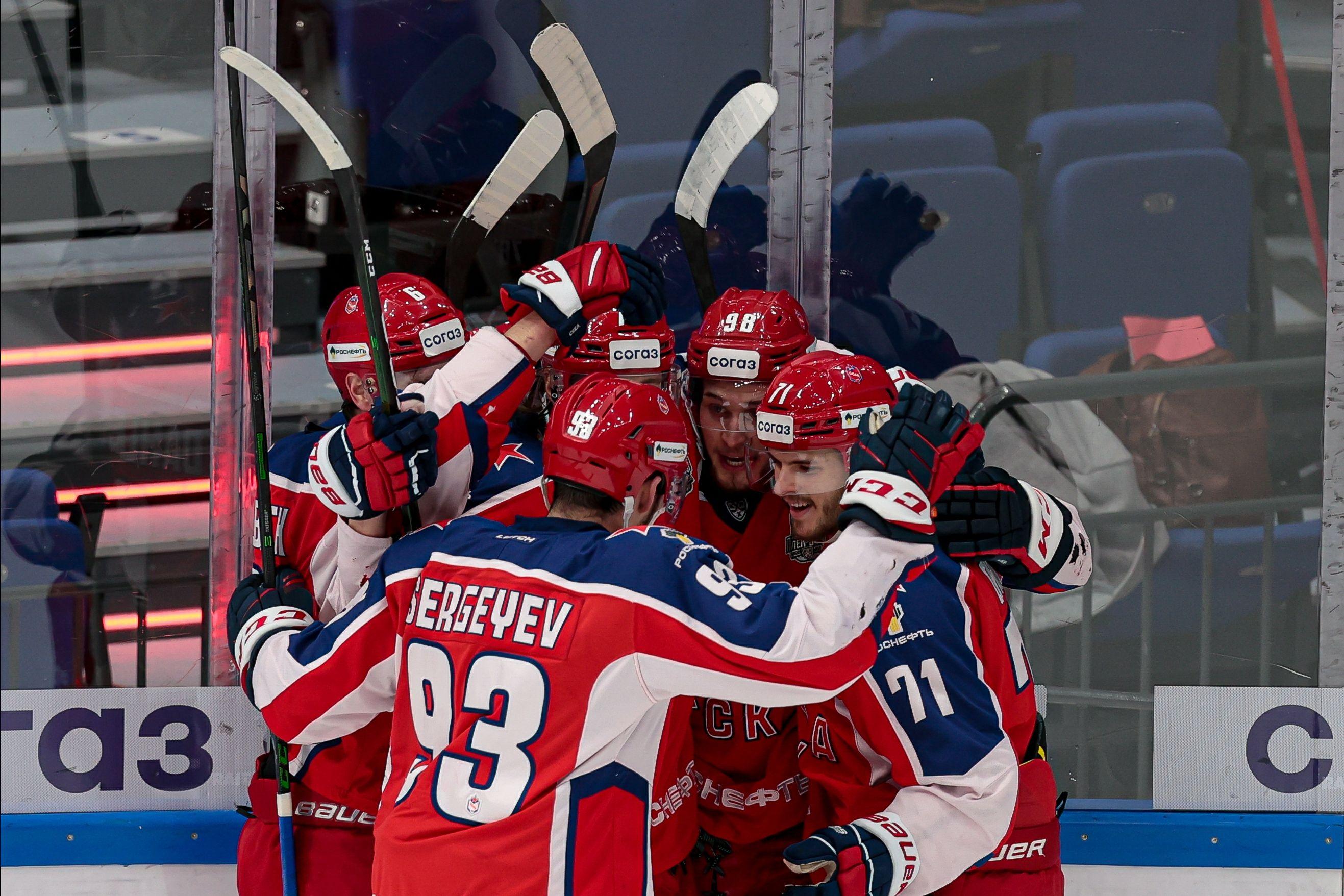 ЦСКА всухую победил СКА во втором матче полуфинальной серии Кубка Гагарина