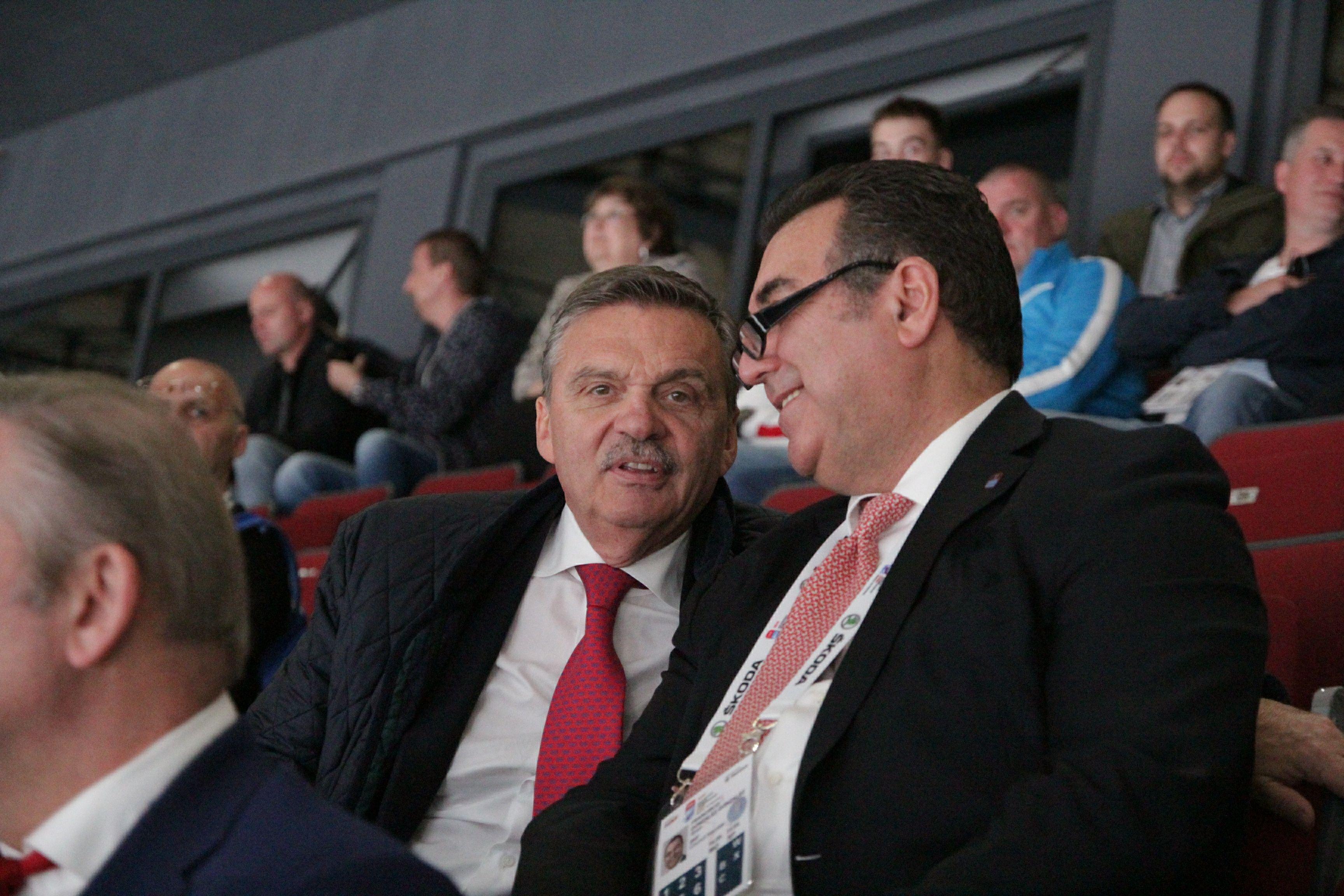 Матч 'Авангард' — 'Ак Барс' посетил глава IIHF Фазель