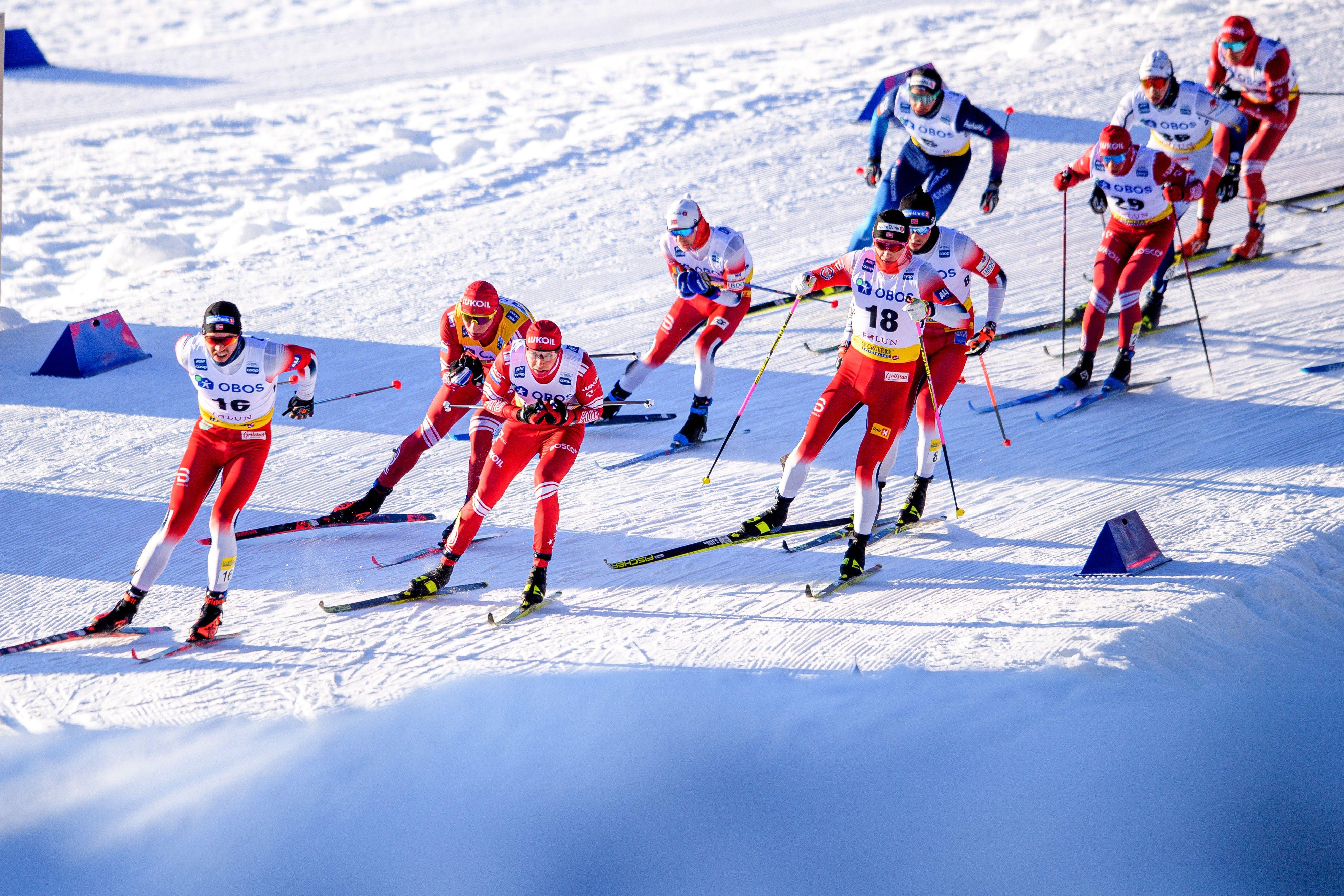Лыжники сборной Норвегии рассказали о том, как планируют превзойти Большунова в скиатлоне на ЧМ