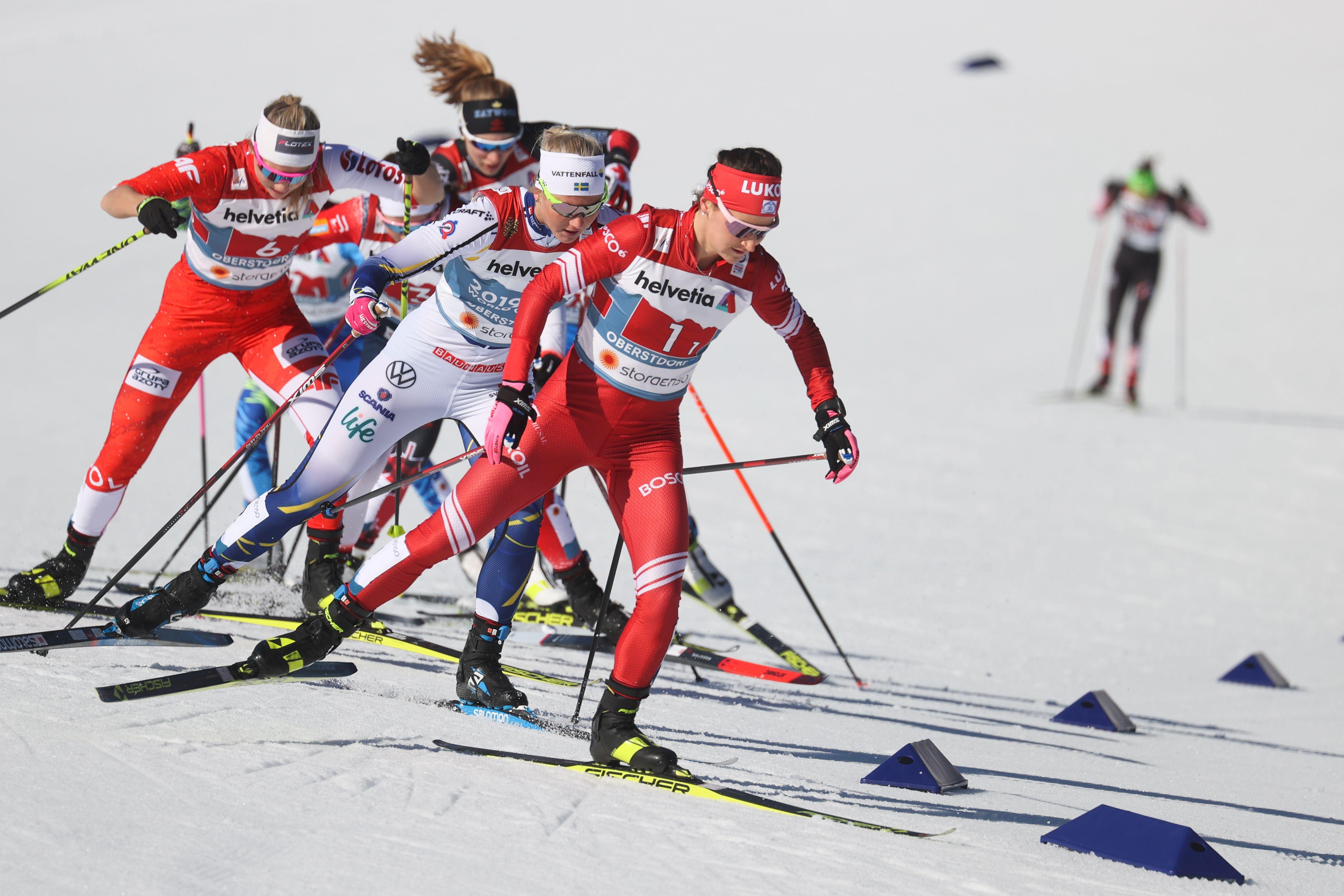 Женская сборная России осталась без медалей в командном спринте на ЧМ по лыжным гонкам. Все результаты