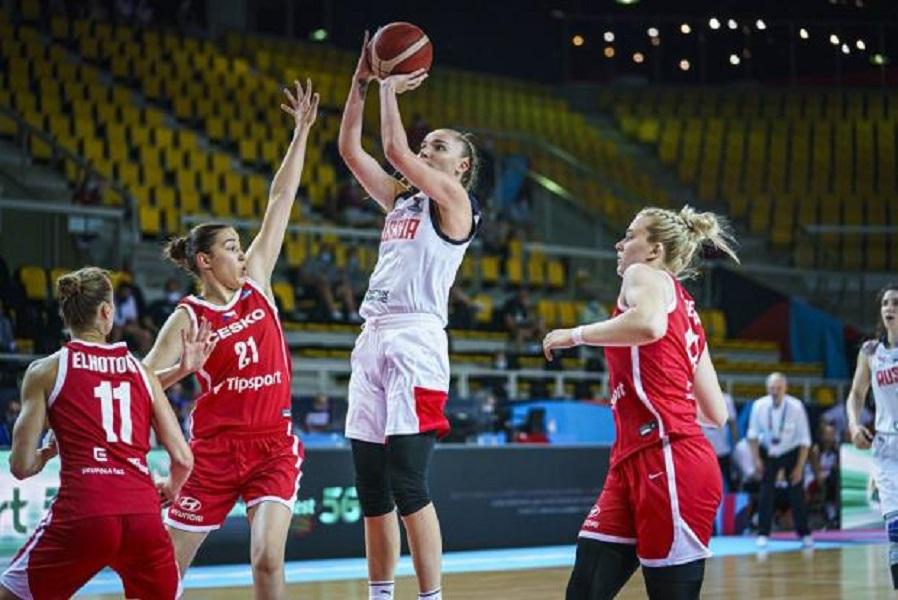 Российские баскетболистки обыграли сборную Испании на Евробаскете