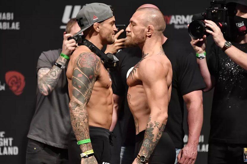 UFC 264: Макгрегор пытался устроить провокацию на битве взглядов с Порье. Видео