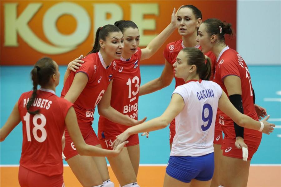 Женская сборная России вышла в полуфинал молодёжного чемпионата мира по волейболу