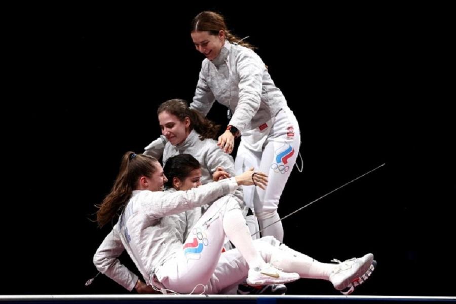 Сборная России по фехтованию досрочно выиграла медальный зачёт Олимпиады!