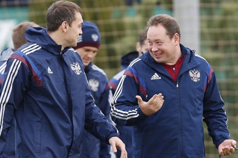 Слуцкий рассказал о шутке над Дзюбой на своём дне рождения