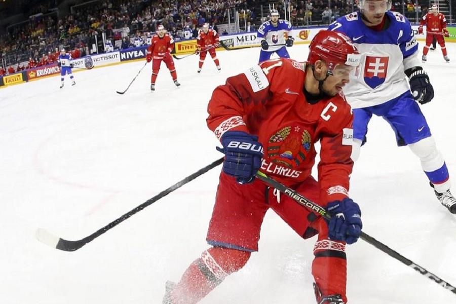 Сборная Белоруссии показала победную раздевалку после матча со Швецией на чемпионате мира (ВИДЕО)