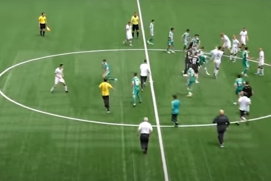 Опубликовано видео драки молодёжных команд 'Ахмата' и 'Локомотива' (ВИДЕО)