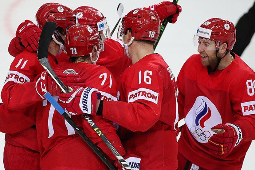 Самонов передал настроение сборной России после победы над Швейцарией: победный дэб вратаря. ВИДЕО