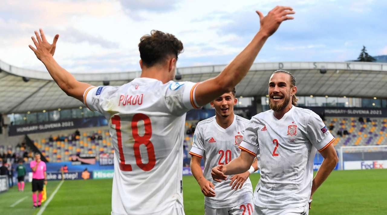 Футбол, Молодёжный чемпионат Европы, Полуфинал, Испания - Португалия, прямая текстовая трансляция
