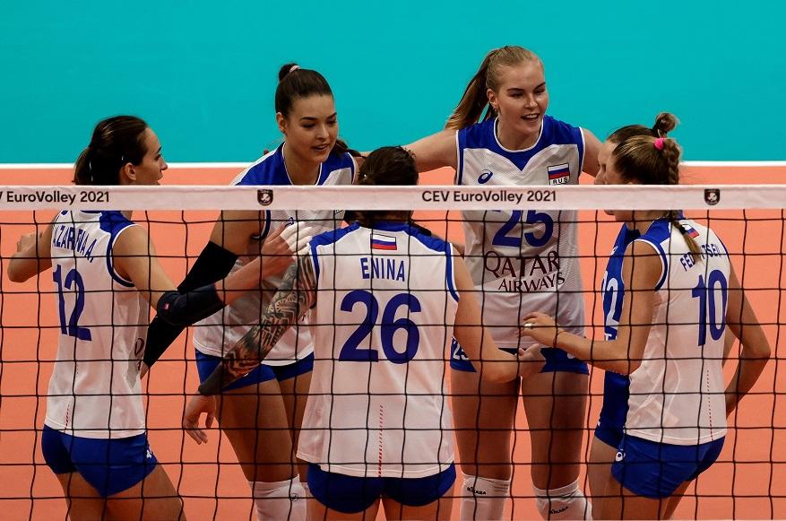 Женская сборная России досрочно вышла в 1/8 финала ЧЕ-2021 по волейболу