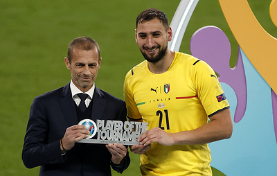 Вратарь сборной Италии Доннарумма признан лучшим игроком чемпионата Европы по футболу