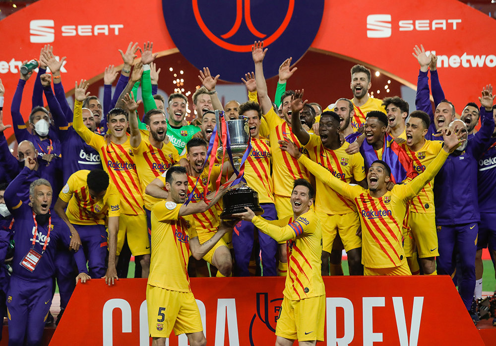 'Барселона' разгромила 'Атлетик' в финале Кубка Испании