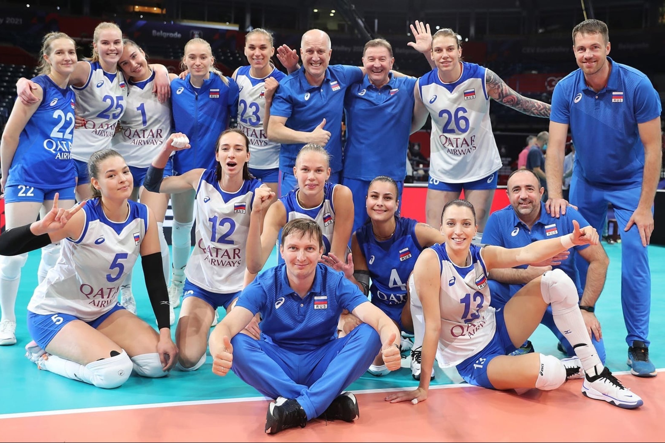 Наши волейболистки победили Францию на старте чемпионата Европы