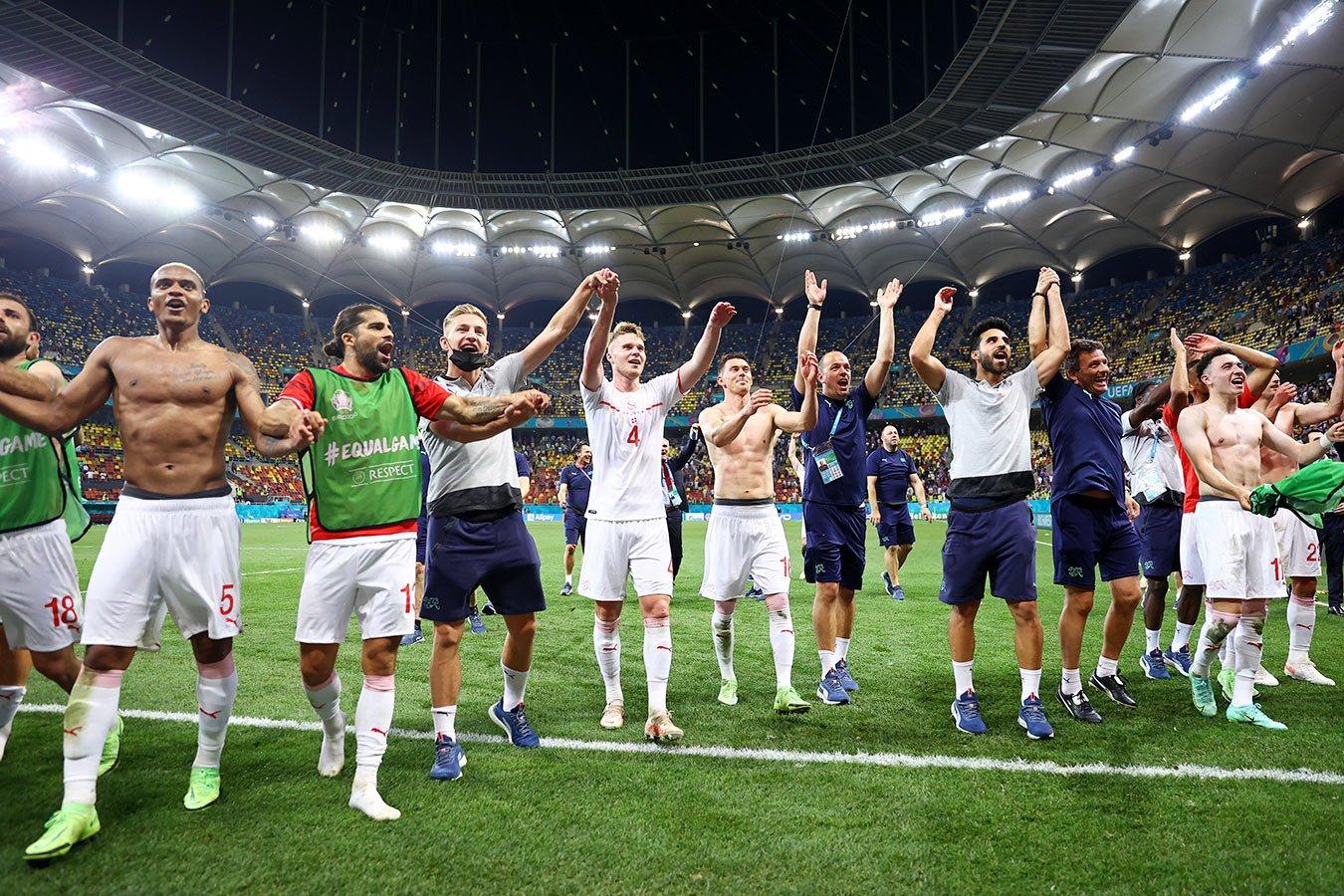 Швейцария встретится с Испанией на стадии 1/4 финала Евро. Матч пройдёт в Санкт-Петербурге