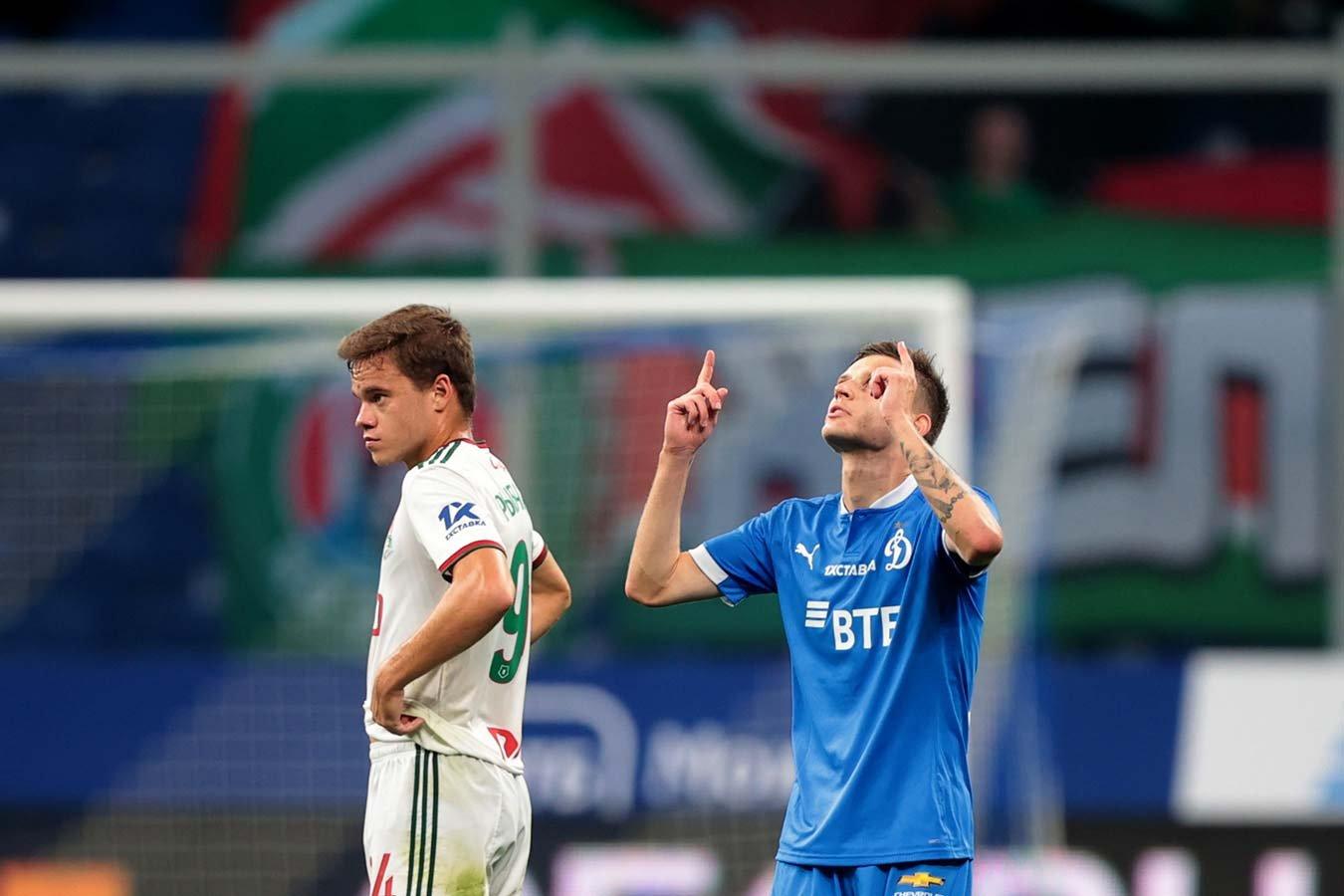 «Динамо» и «Локомотив» сыграли вничью в матче 6-го тура РПЛ