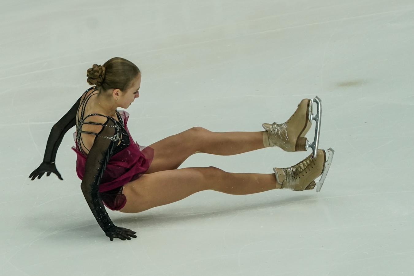 Александра Трусова сорвала каскад в короткой программе на чемпионате мира