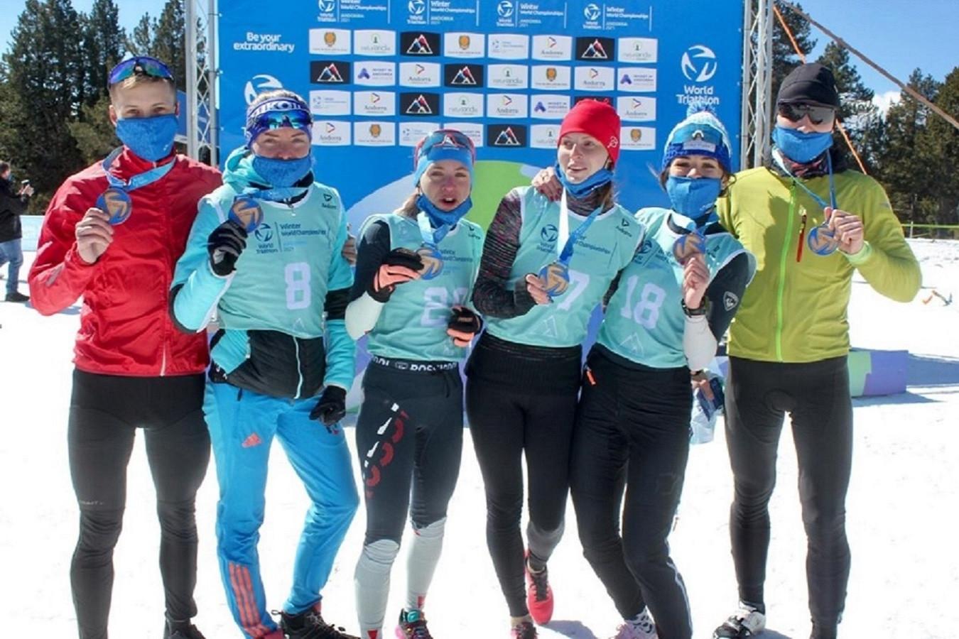 Сборная России по зимнему триатлону стала лидером по числу медалей на чемпионате мира