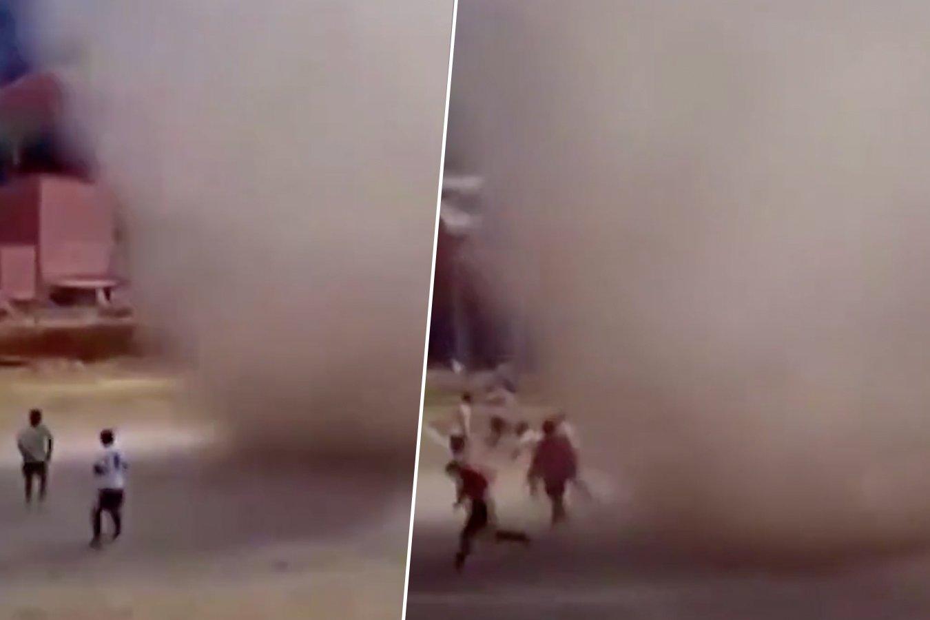 В Боливии перед матчем на поле появился «пыльный дьявол». Видео