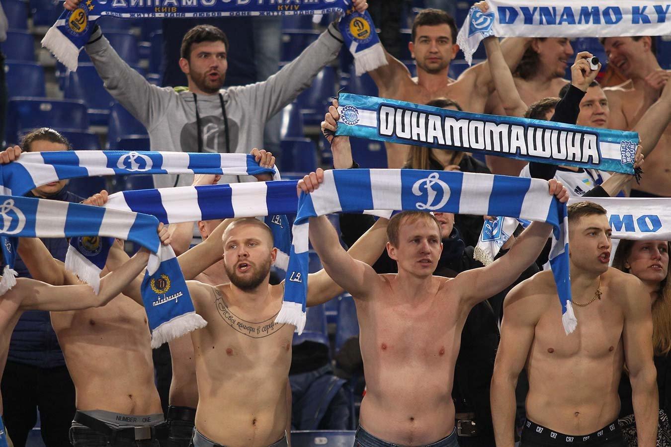 Фанаты киевского «Динамо» подрались с полицией во время финала Кубка Украины. Фото