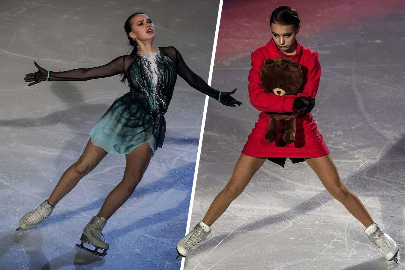 Загитова показала новую программу, Щербакова прокатилась с мишкой. Фото ледового шоу