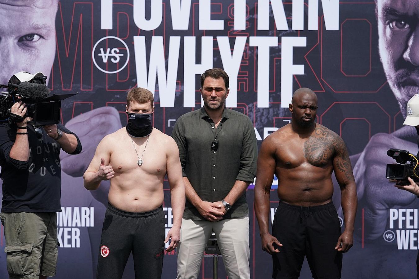 Поветкин оказался более чем на 8 кг легче Уайта на официальной церемонии взвешивания