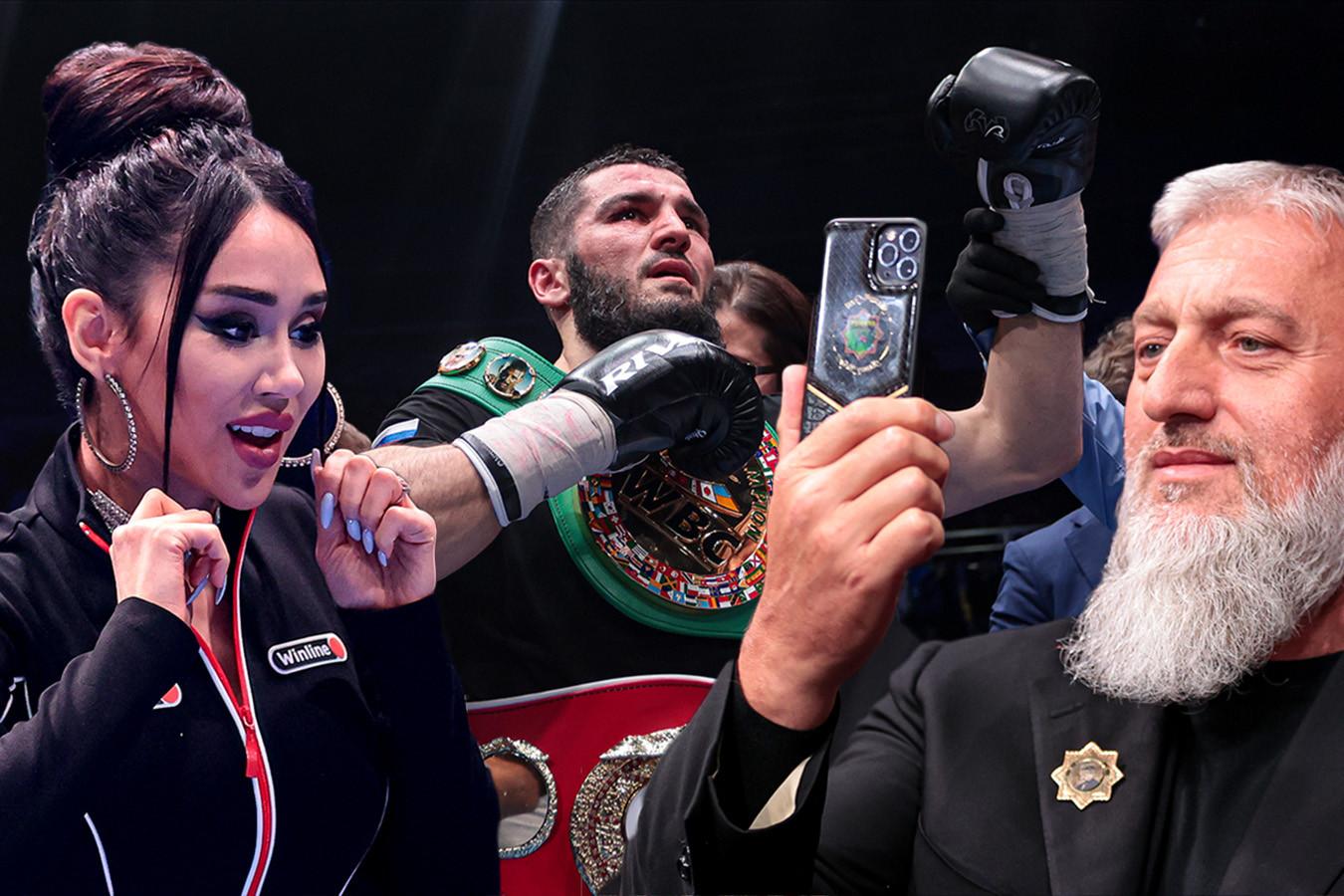 Бетербиев молился после победы, Цзю фотографировался с Запашным. Фото вечера бокса