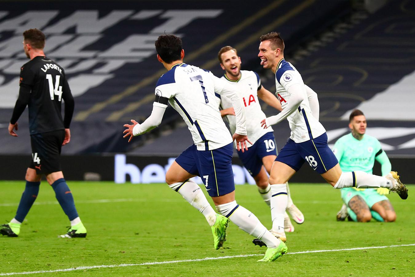 «Тоттенхэм» обыграл «Манчестер Сити» и возглавил турнирную таблицу АПЛ