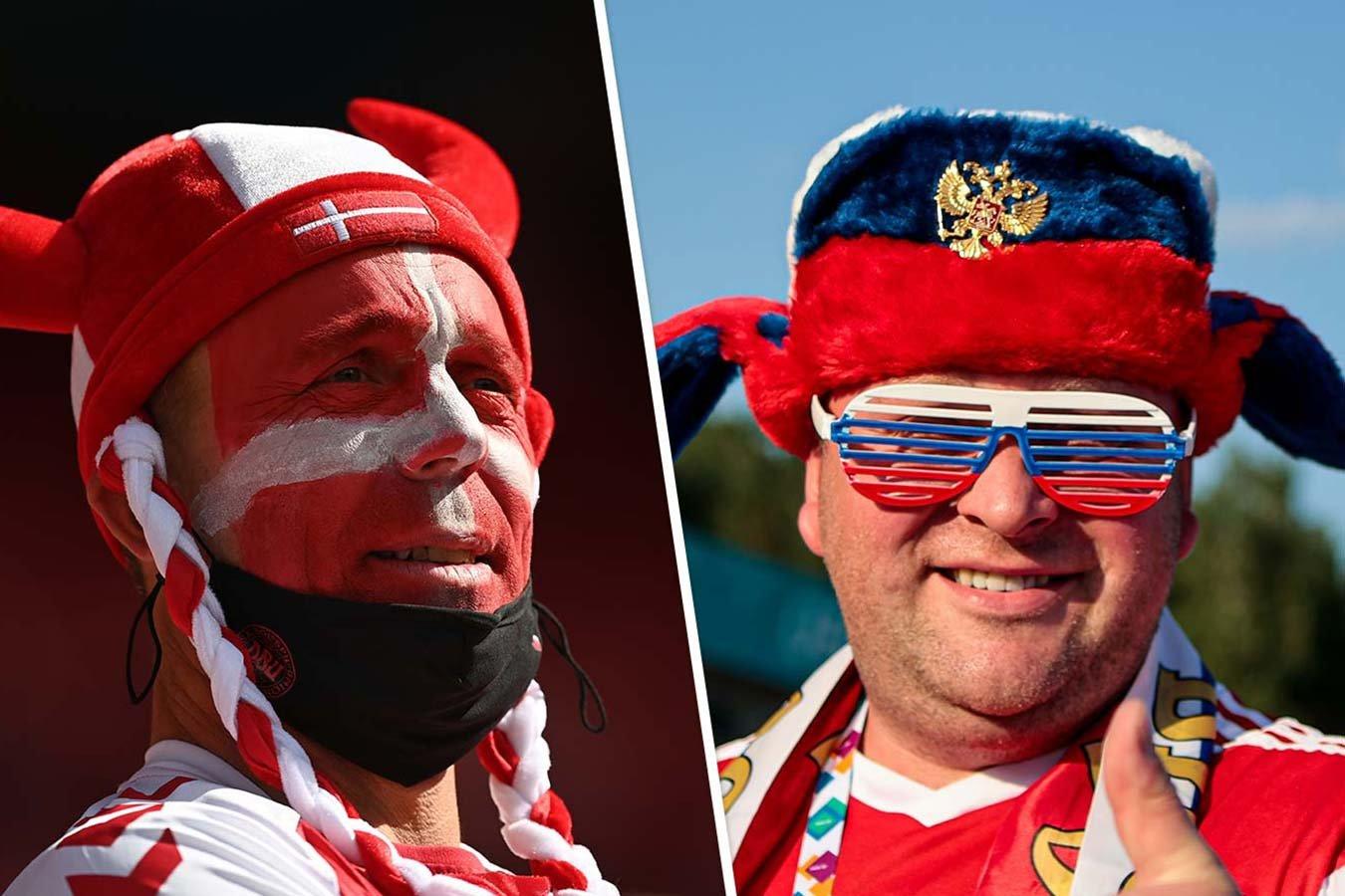 Россия — Дания: прямой эфир матча чемпионата Европы на Первом канале начнётся в 22:00