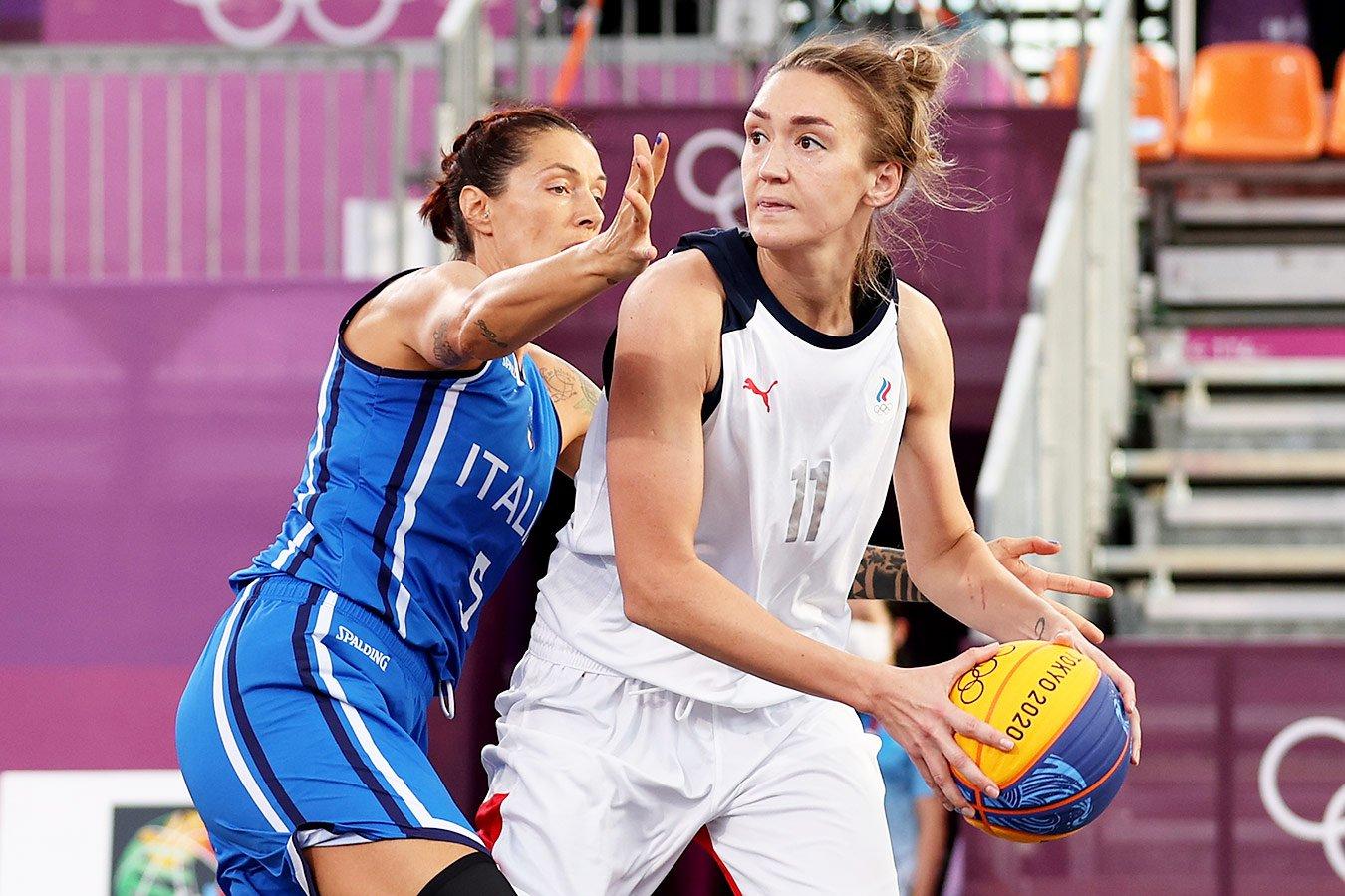 Женская сборная России по баскетболу 3х3 вышла в полуфинал Олимпиады в Токио