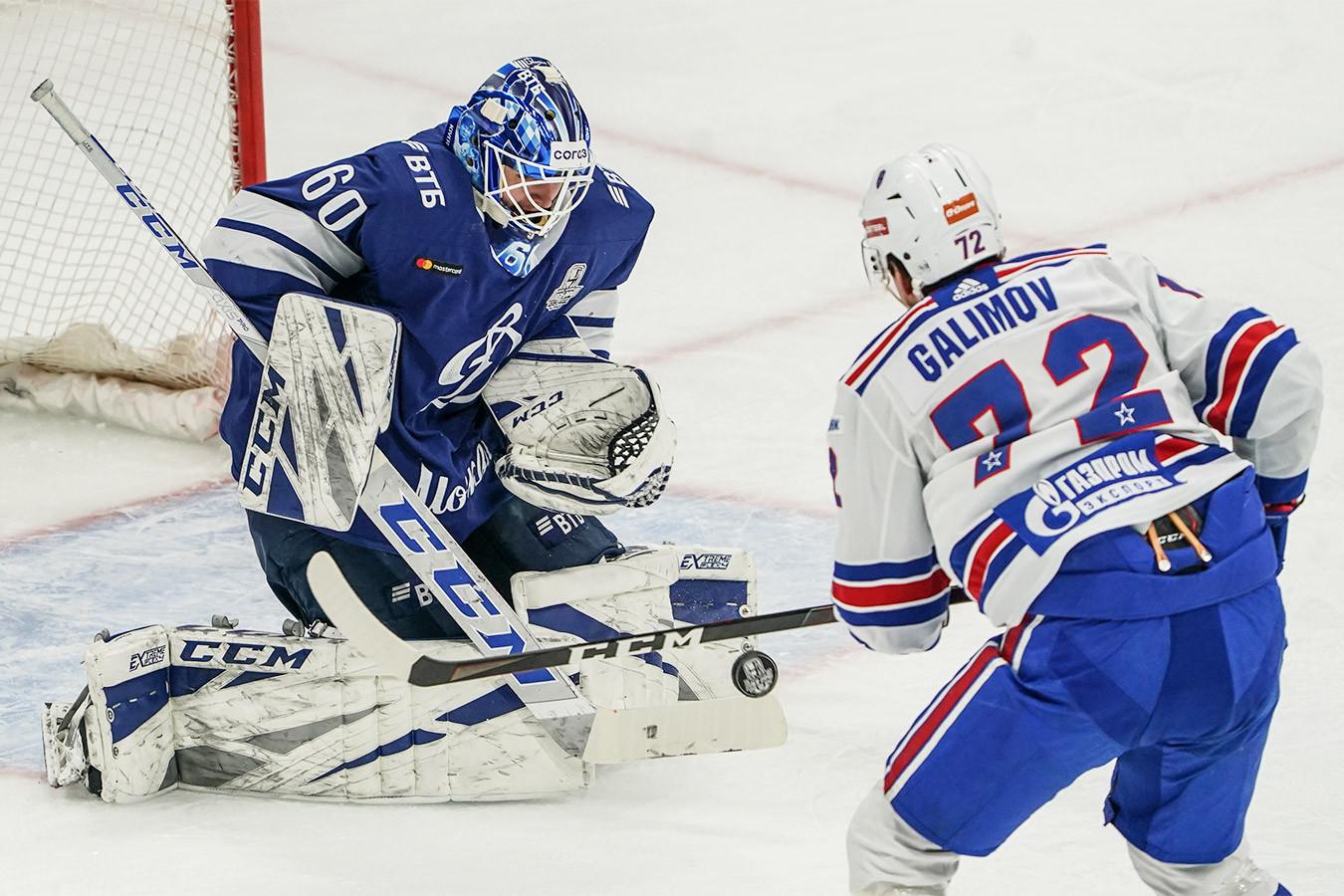 СКА в Москве обыграл «Динамо». Счёт в серии — 3-1
