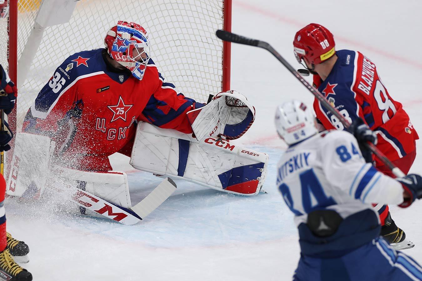 «Барыс» отыгрался с 0:2 и одержал крупную победу над ЦСКА, забросив пять шайб за период