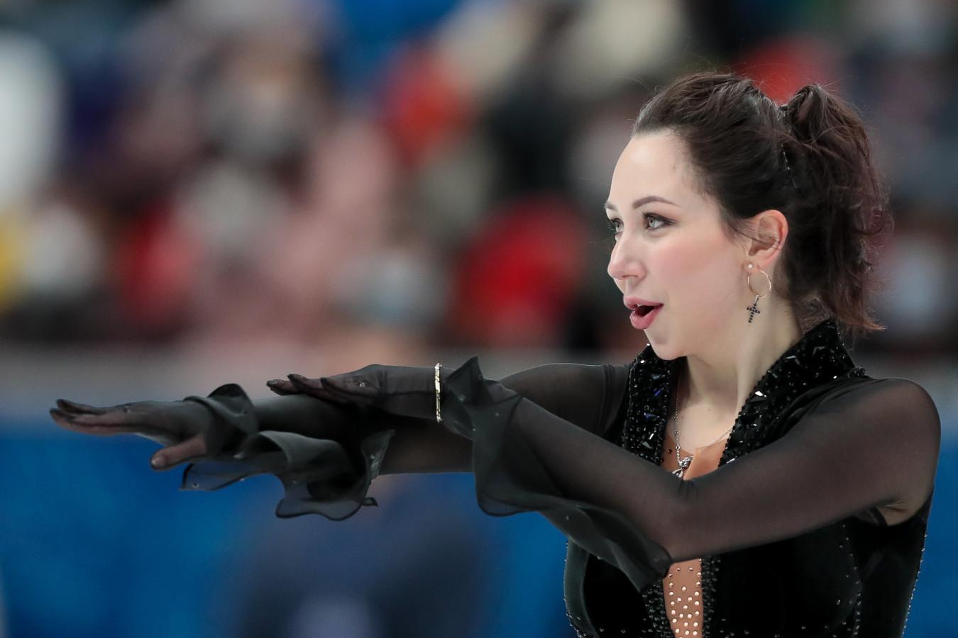 Елизавета Туктамышева чисто исполнила тройной аксель в короткой программе на ЧМ