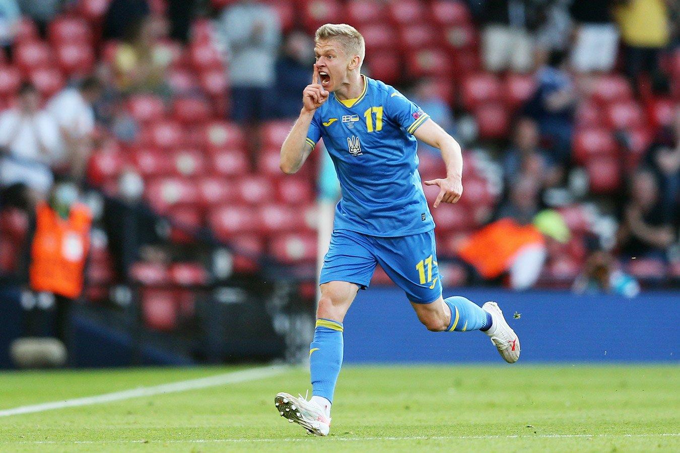 Сборная Украины в овертайме вырвала победу у Швеции и вышла в 1/4 финала Евро