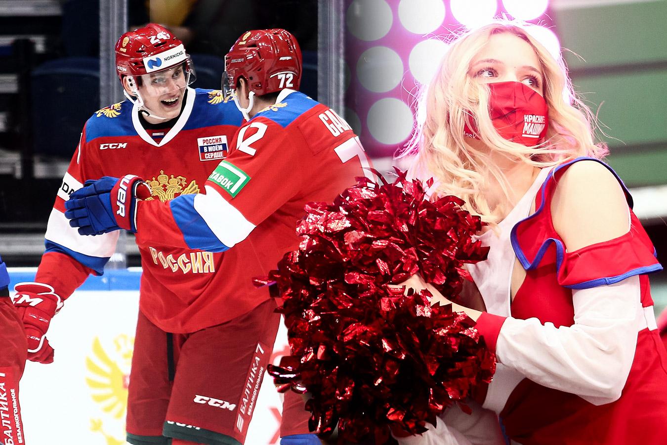 Сборная феерила, чирлидерши танцевали, фанаты вывесили триколор. Россия — Беларусь: фото