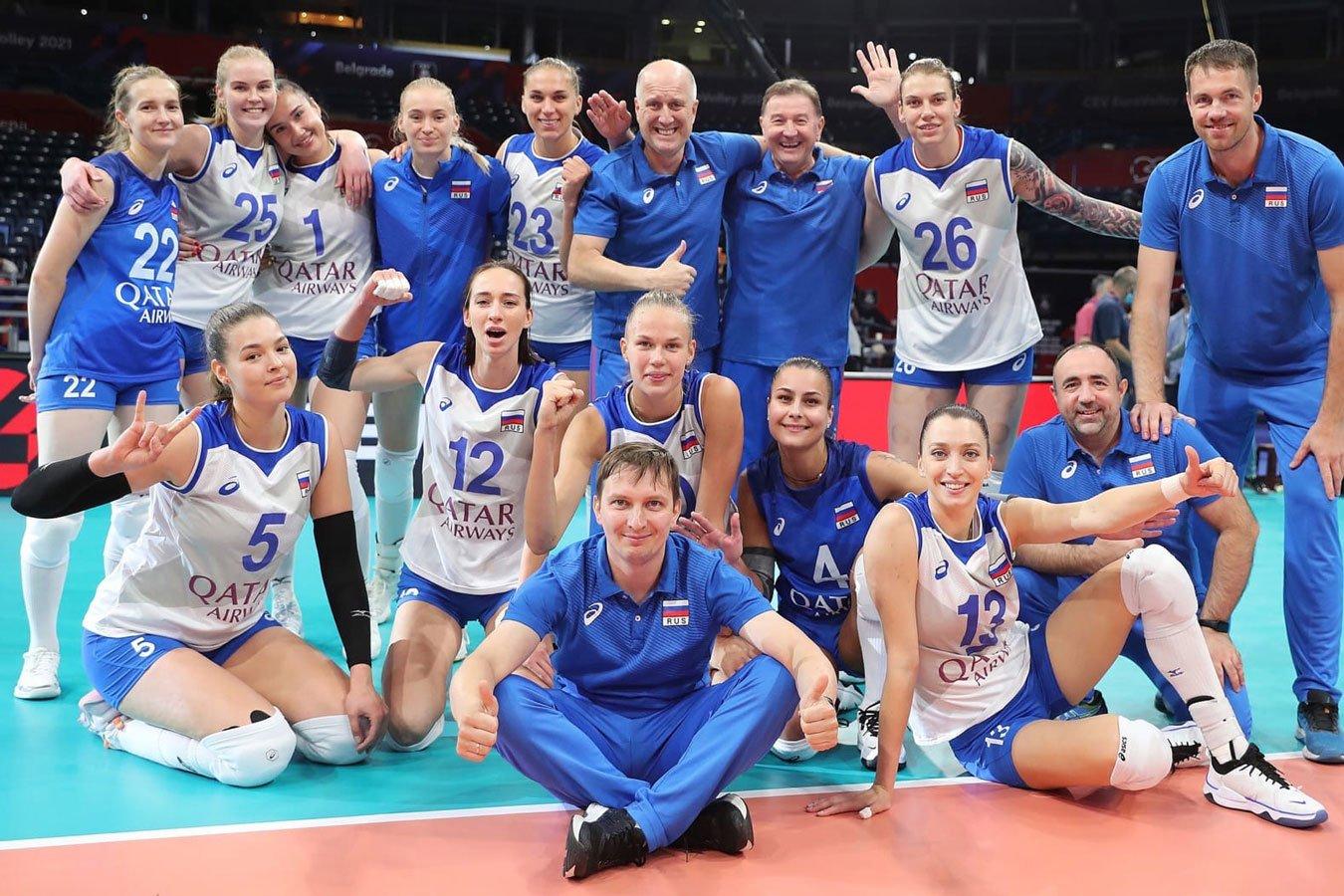 Женская сборная России по волейболу уверенно обыграла Азербайджан во втором матче ЧЕ