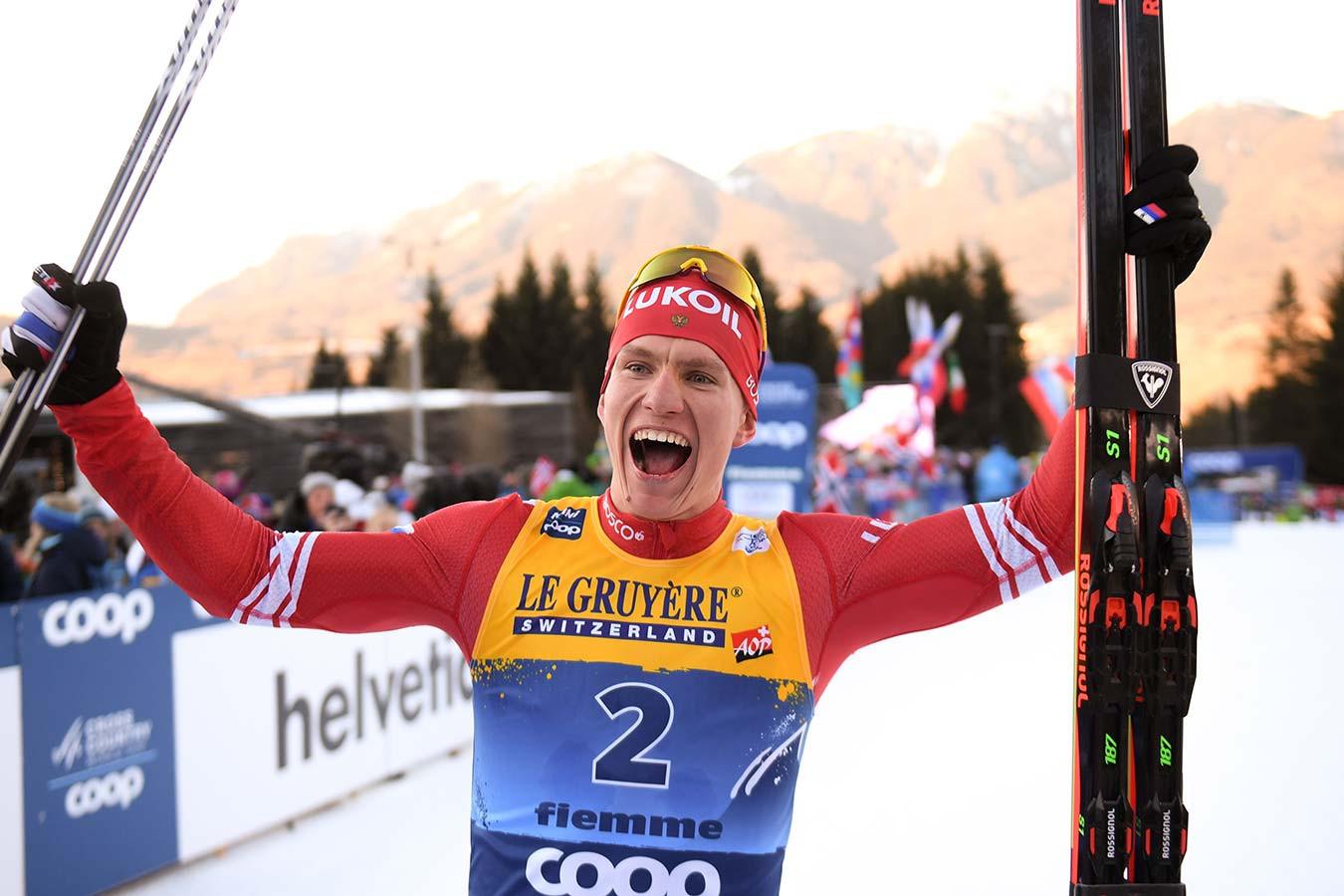 Команда Александра Большунова победила в спринте на чемпионате России по лыжным гонкам