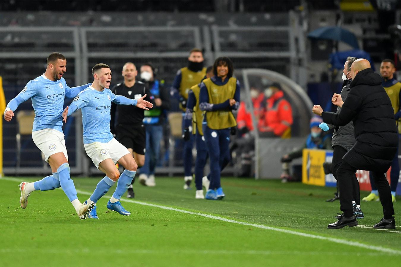 «Манчестер Сити» вышел в полуфинал Лиги чемпионов, обыграв дортмундскую «Боруссию»