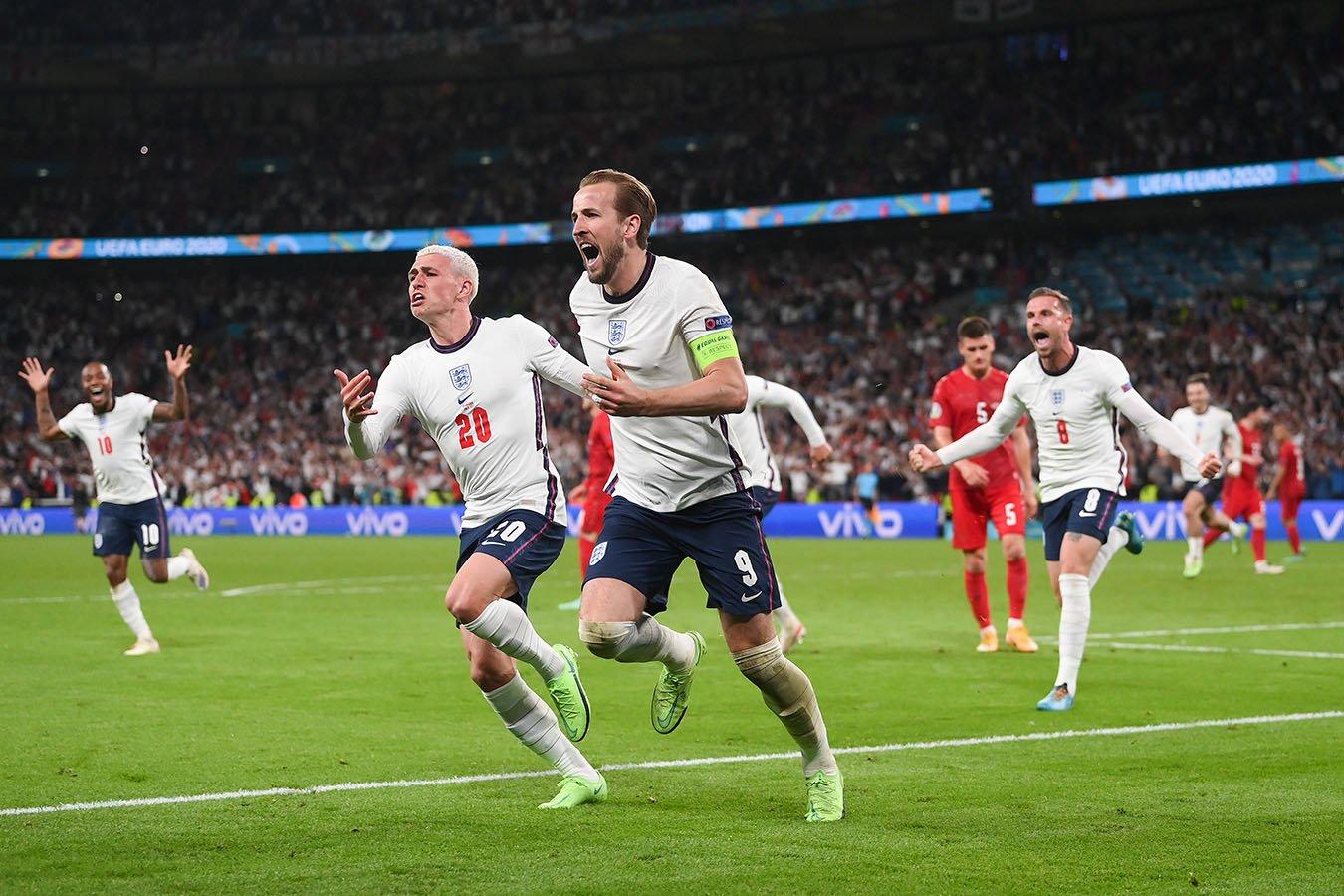 Сборная Англии одолела Данию в дополнительное время и вышла в финал Евро-2020
