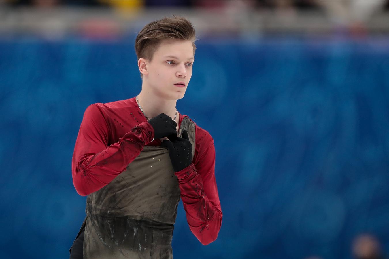 Евгений Семененко побил личный рекорд в короткой программе на командном ЧМ