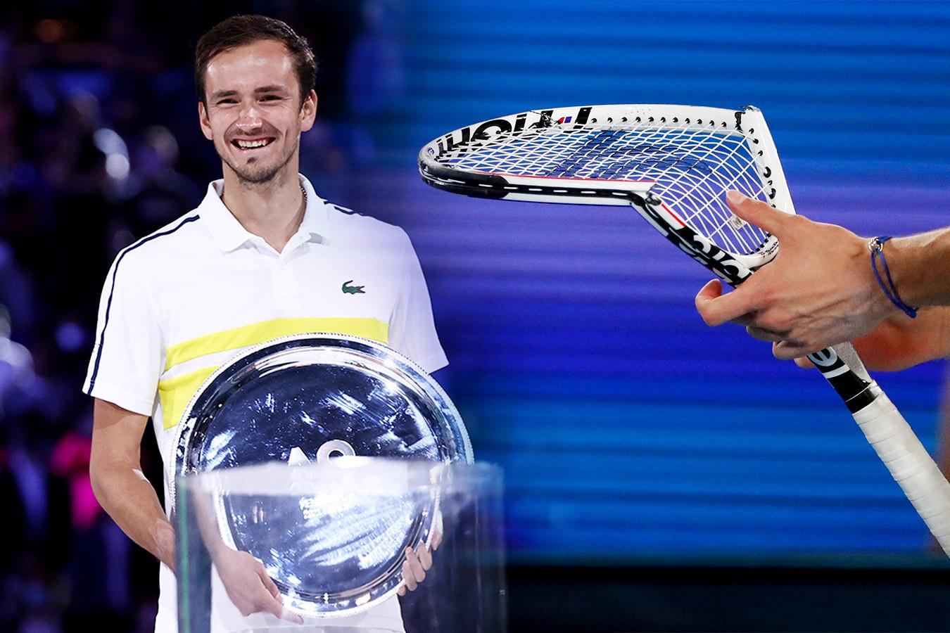 Джокович смешил Медведева, Даниил сломал ракетку на эмоциях. Фото финала Australian Open